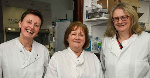 Maureen Watt MSP visits University of Aberdeen and NHS Grampian, Zosia Miedzybrodzka, Mandy Ryan