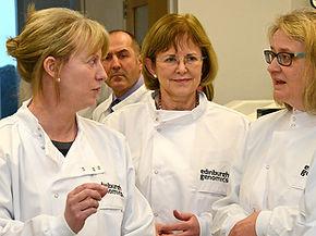 Zosia Miedzybrodzka Scottish Genomes Partnership, Shona Robison MSP, Cabinet Secretary for Heath and Sport, Moira Whyte University of Edinburgh