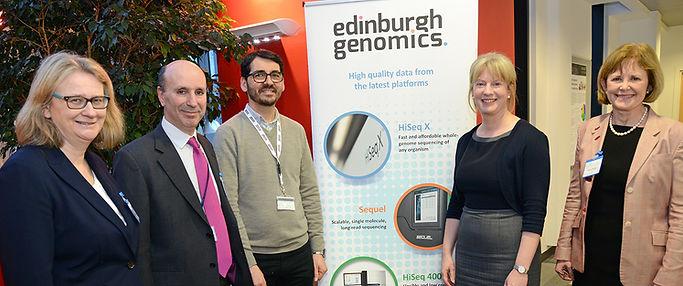 Shona Robison MSP, Cabinet Secretary for Heath and Sport visits Scottish Genomes Partnership