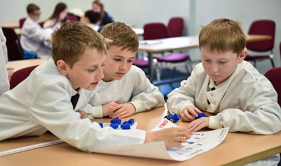 Schoolchildren decoding DNA, Aberdeen May Festival Schools Programme