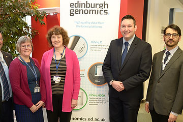 Miles Briggs MSP visits Edinburgh Genomics, Scottish Genomes Partnership