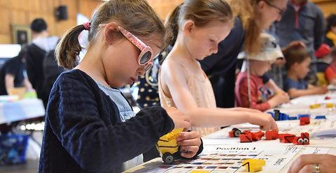 Building Lego pro-bots, University of Aberdeen May fesival