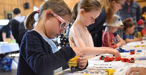 Building Lego pro-bots, University of Aberdeen May fesival