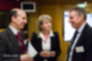 Tim Aitman, SGP Principal Investigator,talking to Cabinet Secretary Shona Robison and Stuart Ralston