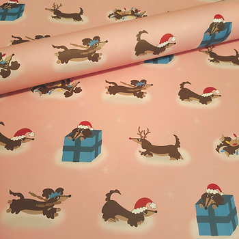 Sausage Dog Christmas Wrapping Paper 1.p