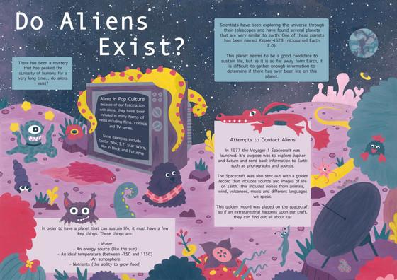 'Do Aliens Exist?' Page Spread