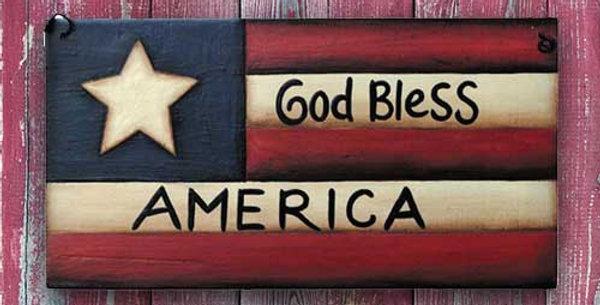 God Bless Flag - WD1217