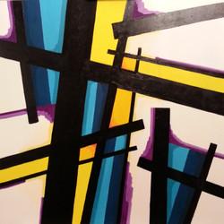 Criss cross N°3  2018 Huile
