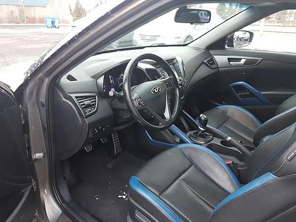 Hyundai Veloster Turbo Édition Gris Mat 2013 manuelle 6 vitesses
