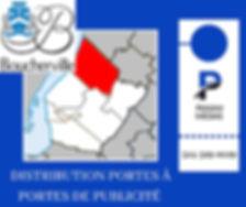 Distribution  accroche porte de publicité à Beloeil par camelot