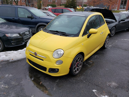 Fiat 500 2012 manuel avec 193 200 km. Prix: 3495$