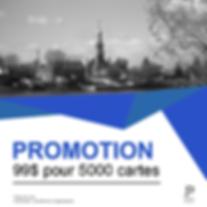Promotion sur les cartes d'affaires Panam Médias