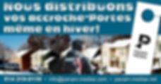 BELOEIL Distribution d' Accroches-portes par camelot