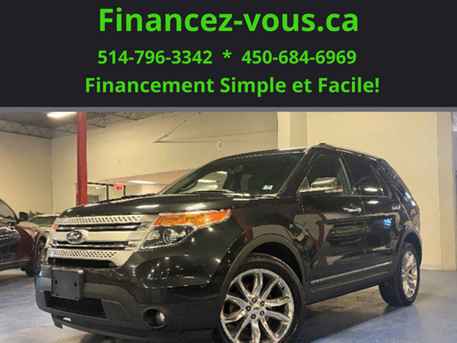 Ford Explorer XLT AWD 7 Passagers 2013 cuir Prix : 12 495$
