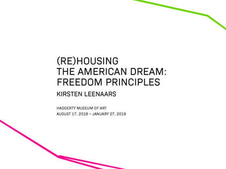 Exhibition Catalog (Re)Housing the American Dream, 2018