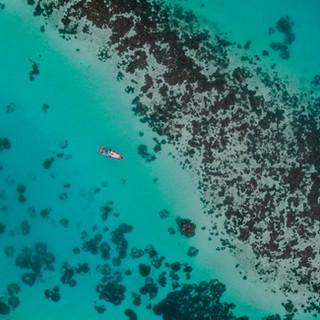 Foto aérea de un océano