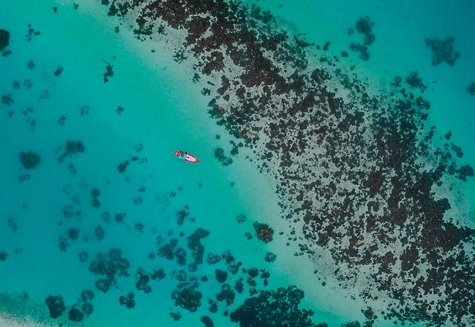 Foto aerea di un oceano