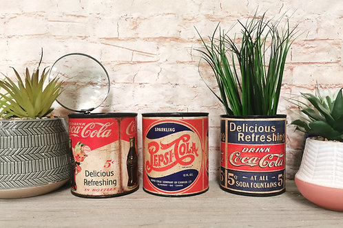 Recycled Vintage Cans