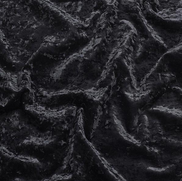 Noir Crushed Velvet