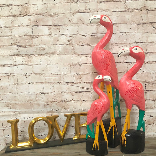 Bright Flamingos Set of 3