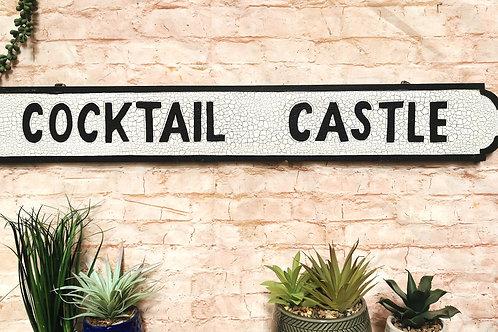 Cocktail Castle Street Sign