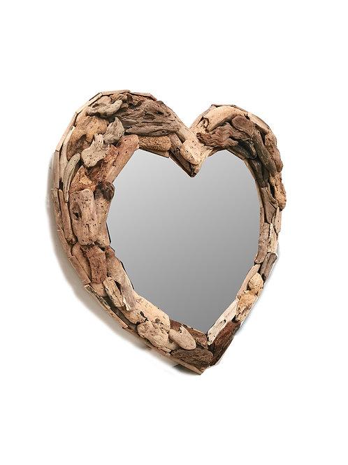 Heart Driftwood Mirror