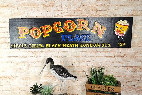 Black Popcorn Sign