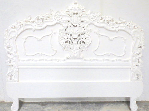 Rococo Headboard Blanc