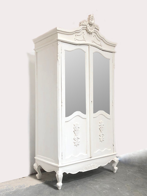 Parisian Double Armoire French White