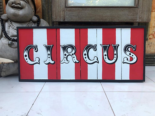 Circus Striped Sign