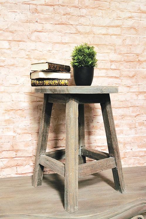 Milkmaid Stool / Side Table Rustic Oak finish