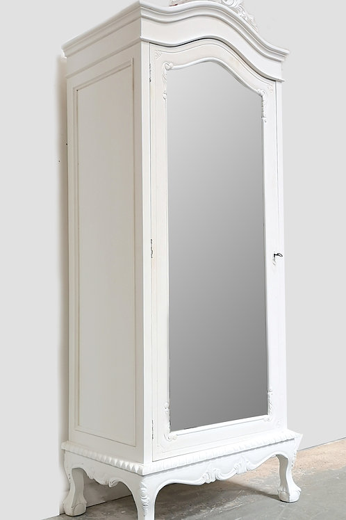 Single Bordeaux Armoire Blanc