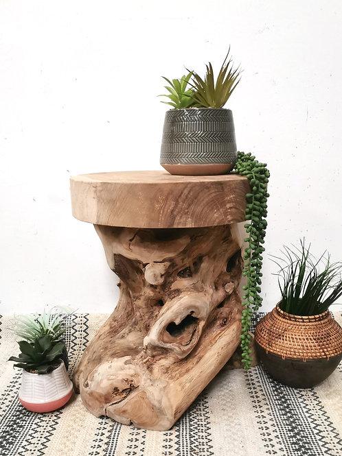 Teak Root Stool / Side Table