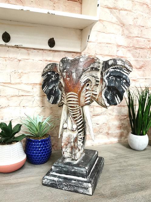 Elephant Head on Stand