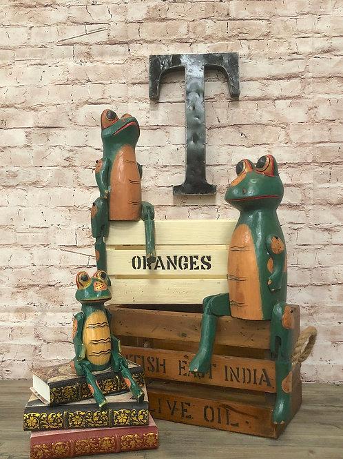 Vintage Frog Shelf Sitter