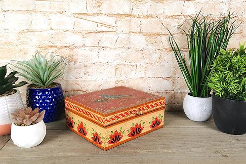 Red and Cream Bird Box