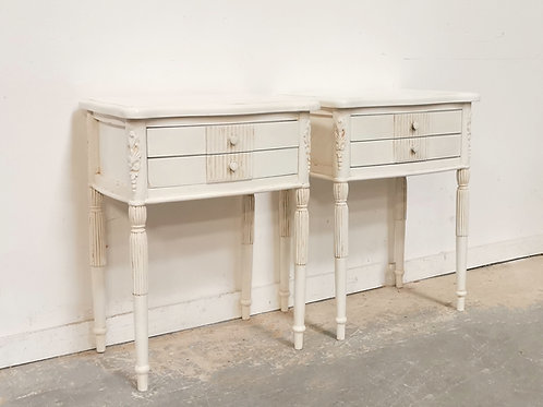 Lydia Bedside Pair French White