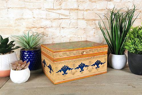 Cream  Floral Box