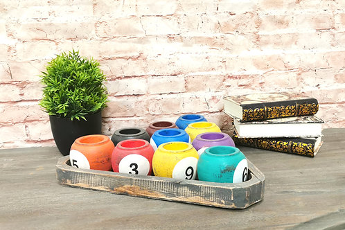 Billiard Ball Tea Light set