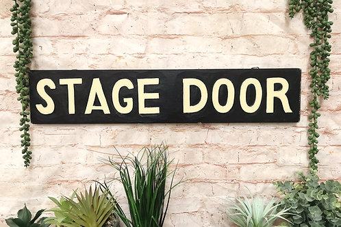 Stage Door Vintage Sign