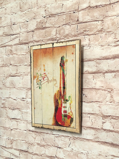 Guitar Vintage A4 Print