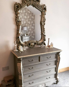 Bombay Chest French Grey with White Accents