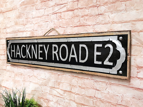 Hackney Road Sign