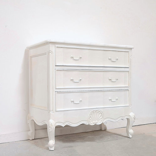 Serpentine Chest French White