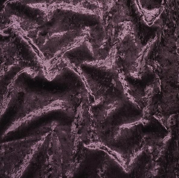 Aubergine Crushed Velvet