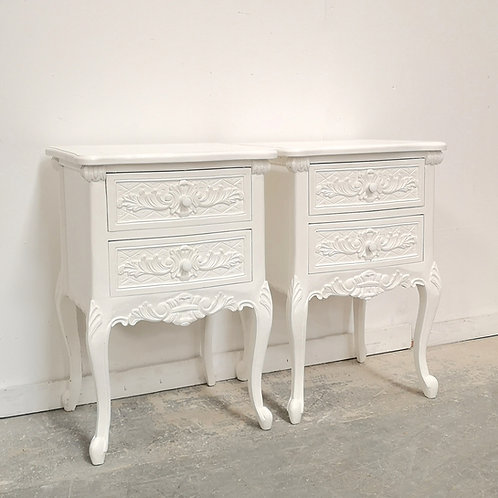 Rococo Bedsides Blanc