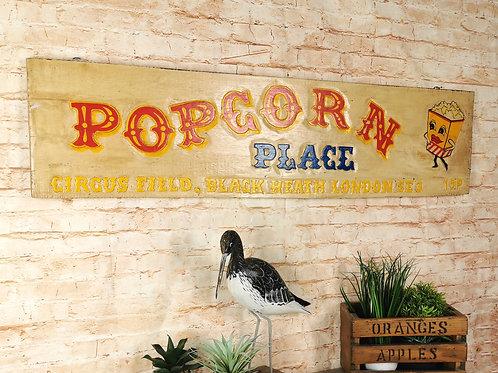 Vintage Popcorn Sign