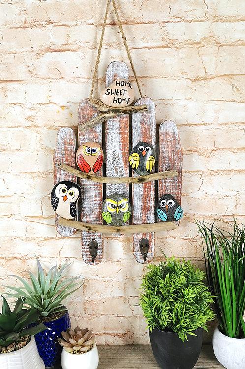 Home Sweet Home Little Birds Key Hook