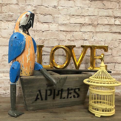 Vintage Macaw Shelf Sitter