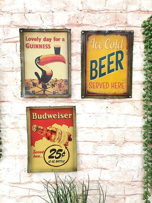 Vintage Metal Prints Beer / Guinness